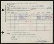 Entry card for Clague, John for the 1961 May Show.