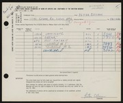 Entry card for Elloian, Peter for the 1961 May Show.