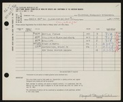 Entry card for Gluhman, Margaret Ann Stemnock for the 1961 May Show.