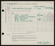 Entry card for Janicki, Hazel for the 1961 May Show.