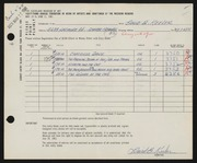 Entry card for Keeler, David B. for the 1961 May Show.