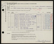 Entry card for Krabill, Carl R. for the 1961 May Show.