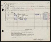 Entry card for Morrison, Ruth K. for the 1961 May Show.