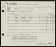 Entry card for Moss, Sherwin S. for the 1961 May Show.