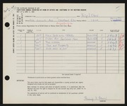 Entry card for Olson, Philip I. for the 1961 May Show.