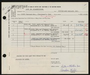 Entry card for Potter and Mellen , and Miller, Frederick Anson; Johnson, James O. for the 1961 May Show.