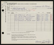 Entry card for Puchy, Clarence G. for the 1961 May Show.