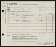 Entry card for Richards, William for the 1961 May Show.