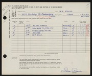 Entry card for Rosin, Ira for the 1961 May Show.