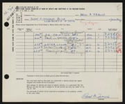 Entry card for Travis, Paul Bough for the 1961 May Show.