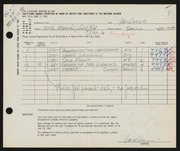 Entry card for Van Duzer, Clarence E. for the 1961 May Show.