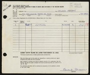 Entry card for Abrams, Edward for the 1962 May Show.