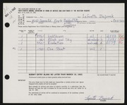 Entry card for Bajorek, LaGretta Metzger for the 1962 May Show.
