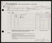 Entry card for Brown, James T. for the 1962 May Show.