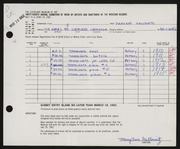 Entry card for Gallowitz, Mary Ann Therease for the 1962 May Show.