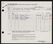 Entry card for Hansen, Neva Yvonne for the 1962 May Show.