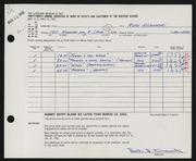 Entry card for Klimowski, Ruth for the 1962 May Show.