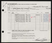 Entry card for Kottler, Howard for the 1962 May Show.