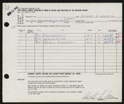 Entry card for Laessig, Robert H. for the 1962 May Show.