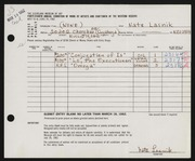 Entry card for Lasnik, Nathan for the 1962 May Show.