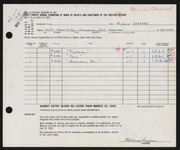 Entry card for Lazzaro, Richard for the 1962 May Show.