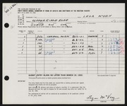Entry card for McVey, Leza for the 1962 May Show.