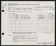 Entry card for Opie, Susan Aitkenhead for the 1962 May Show.