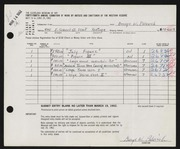 Entry card for Palovich, George W. for the 1962 May Show.