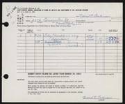 Entry card for Parkinson, David B., Jr. for the 1962 May Show.