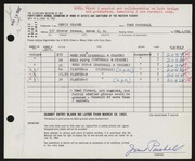 Entry card for Parshall, Harriet Jane, and Chasek, Denis F. for the 1962 May Show.