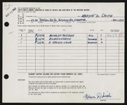 Entry card for Smith, Marvin D. for the 1962 May Show.