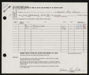 Entry card for Soble, Arlene for the 1962 May Show.