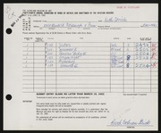 Entry card for Cochran, Ruth for the 1962 May Show.