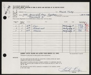 Entry card for Tichy, Frank for the 1962 May Show.