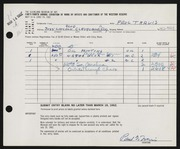 Entry card for Travis, Paul Bough for the 1962 May Show.