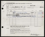 Entry card for Van Duzer, Clarence E. for the 1962 May Show.