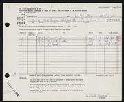 Entry card for Bajorek, LaGretta Metzger for the 1963 May Show.