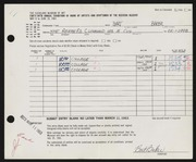 Entry card for Baker, Bart Michael for the 1963 May Show.