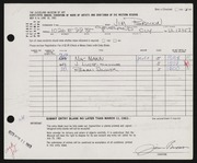 Entry card for Brown, James T. for the 1963 May Show.