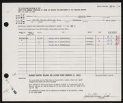 Entry card for Cook, John William for the 1963 May Show.