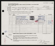 Entry card for Drumm, Don Dean for the 1963 May Show.