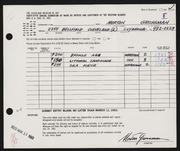 Entry card for Grossman, Morton for the 1963 May Show.