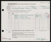 Entry card for Janicki, Hazel for the 1963 May Show.