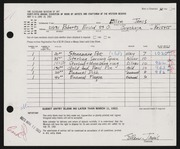 Entry card for Janis, Ellen for the 1963 May Show.