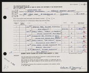 Entry card for Jeffery, Charles Bartley, and Wooddell, Joseph M. for the 1963 May Show.