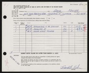 Entry card for Keeler, David B. for the 1963 May Show.