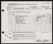 Entry card for Kottler, Howard for the 1963 May Show.