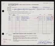 Entry card for Laessig, Robert H. for the 1963 May Show.