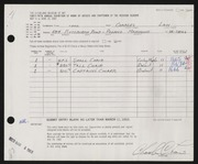 Entry card for Law, Charles for the 1963 May Show.