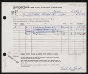 Entry card for Leach, Frederick Bennet for the 1963 May Show.